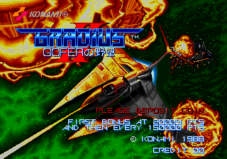 Gradius II - GOFER no Yabou (Japan New Ver.)