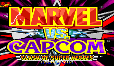 Marvel Vs. Capcom: Clash of Super Heroes (Euro 980123) Title Screen