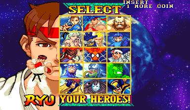 Marvel Vs. Capcom: Clash of Super Heroes (Euro 980123) Screenthot 2