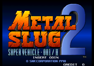 Metal Slug 2 - Super Vehicle-001+II Title Screen