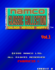 Namco Classic Collection Vol.1 Title Screen