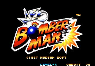 Neo Bomberman Title Screen