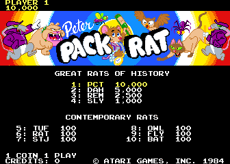 Play <b>Peter Pack-Rat</b> Online