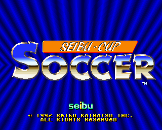 Seibu Cup Soccer (set 1) Title Screen