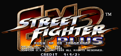 Street Fighter EX 2 Plus (USA 990611) Title Screen