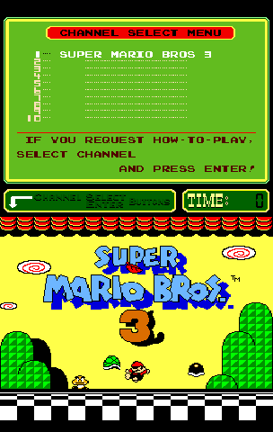 Super Mario Bros. 3 (PlayChoice-10) Title Screen