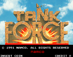 Tank Force (US, 2 Player) Title Screen