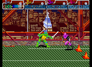 Teenage Mutant Ninja Turtles - Turtles in Time (4 Players ver UAA) Screenshot 3