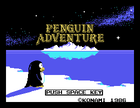 Penguin Adventure Title Screen