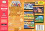 Paper Mario Box Art Back
