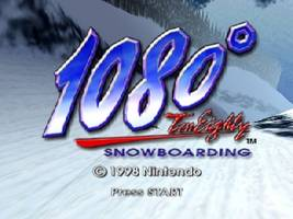1080 Snowboarding Title Screen