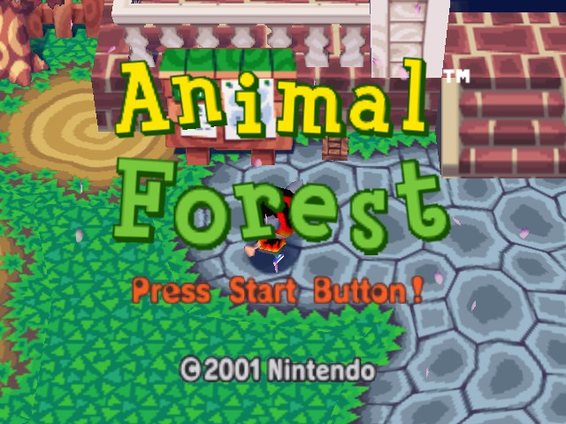 Animal Forest (English beta 2-12-10) Title Screen