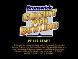 Brunswick Circuit Pro Bowling Title Screen