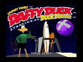 Daffy Duck Starring as Duck Dodgers Title Screen
