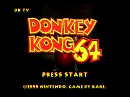 Donkey Kong 64 Title Screen