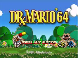 Dr. Mario 64 Title Screen