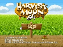 Harvest Moon 64 Title Screen