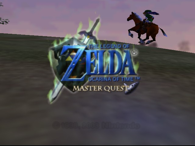 The Legend of Zelda - Ocarina of Time (Debug Edition) Title Screen