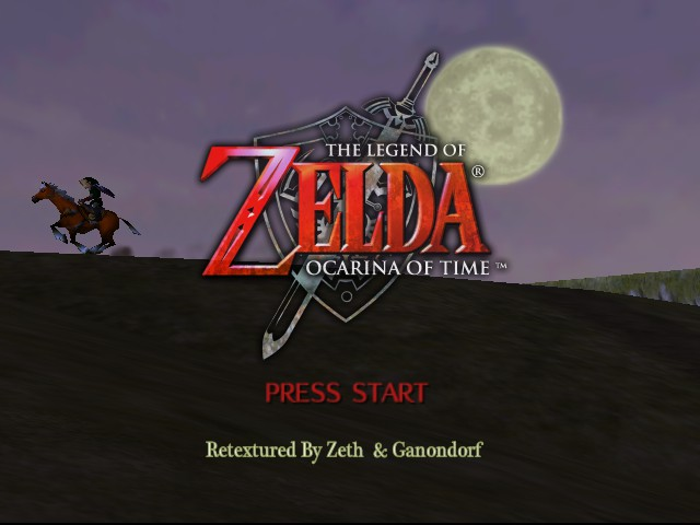 Legend of Zelda, The - Ocarina of Time (retextured)