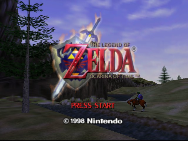 Legend of Zelda, The - Ocarina of Time Title Screen