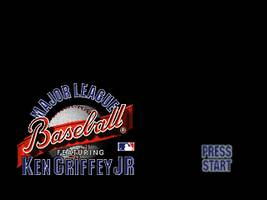 Major League Baseball Featuring Ken Griffey Jr. Title Screen