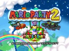 Mario Party 2 Title Screen