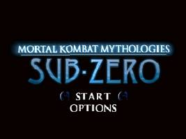 Mortal Kombat Mythologies - Sub-Zero Title Screen