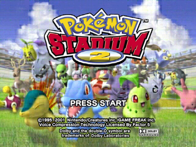 Pokemon Stadium 2 Title Screen