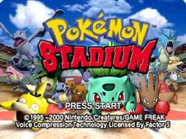 Pokemon Stadium Title Screen