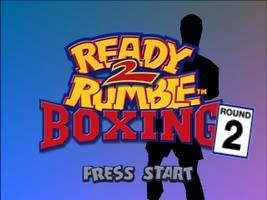 Ready 2 Rumble Boxing - Round 2 Title Screen