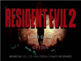Resident Evil 2 Title Screen