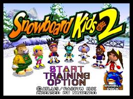 Snowboard Kids 2 Title Screen