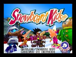 Snowboard Kids Title Screen