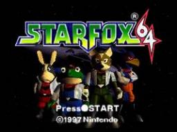 Star Fox 64 Title Screen