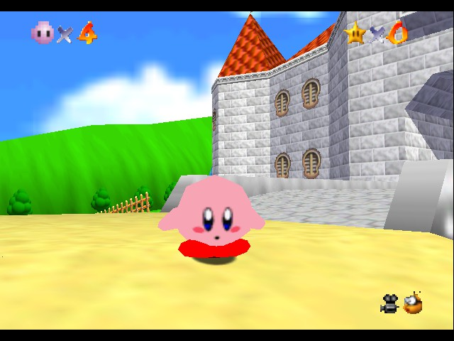 Super Mario 64 - Kirby Edition Screenthot 2