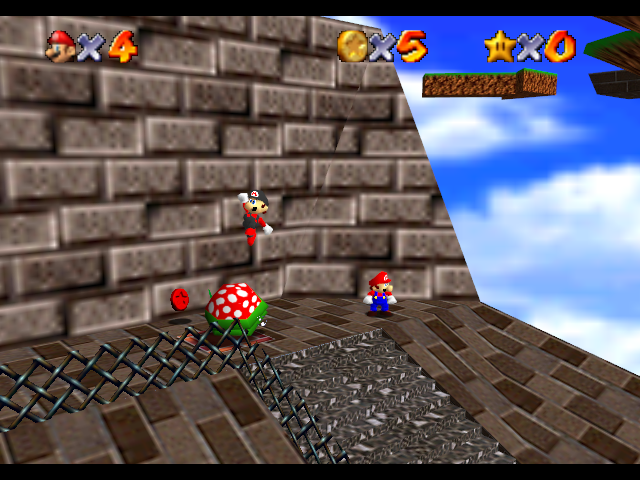 Super Mario 64 - Multiplayer Screenthot 2