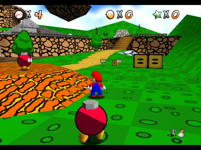 Super Mario 64 - Retro Mario (beta)