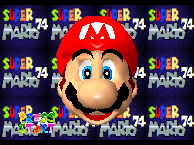 Super Mario 74 Title Screen