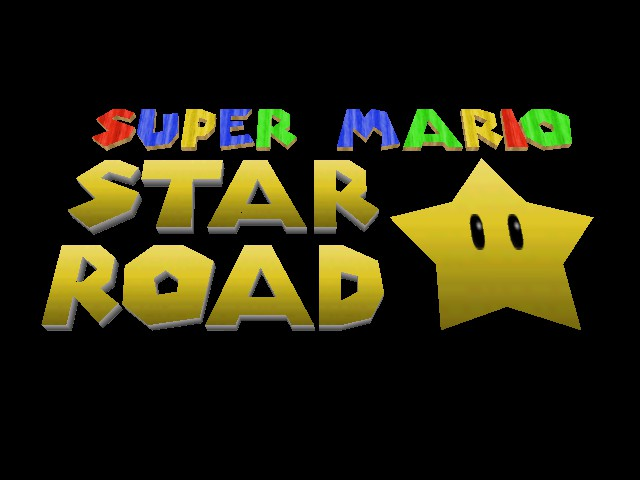 Super Mario Star Road Title Screen