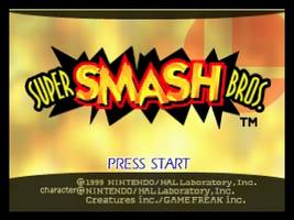 Super Smash Bros. Title Screen