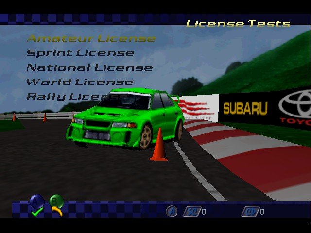 Play top gear rally 2 online n64 game rom nintendo 64 emulation top gear rally 2 menus license tests license tests user screenshot sciox Image collections