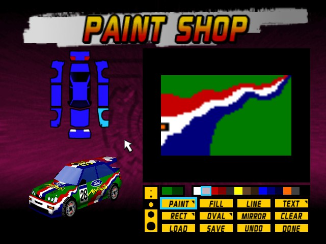 Top gear rally n64 game nintendo 64 top gear rally n64 top gear rally misc paint shop perphaps the greatest feature of this game sciox Image collections