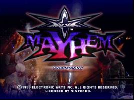 WCW Mayhem Title Screen