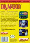 Dr. Mario Box Art Back