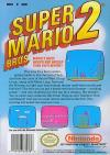 Super Mario Bros 2 - 2nd Run Box Art Back