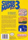 Super Mario Bros 3 - 2nd Run Box Art Back