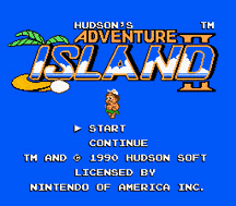 Adventure Island 2 Title Screen