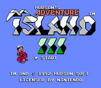 Adventure Island 3 Title Screen