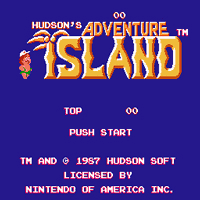 Adventure Island Title Screen