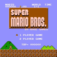 Adventures of Ice Mario Title Screen